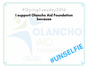 I support Olancho Aid because...